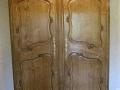 3 armoire normande en chêne finition teintée patinée cirée