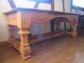 20 Bureau Louis XIV en vieux bois de chêne