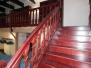 Escalier chêne teinté accajou