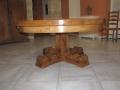 65 Table ronde en vieux bois de chêne