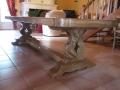 57 Table rustique en chêne sur mesure